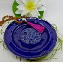 Keramikteller blau