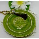 Keramikteller grün